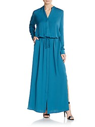 Vince Maxi Shirt Dress Teal