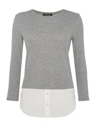 Episode Long Sleeve Double Layer Jumper Heather