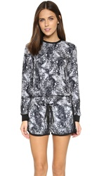 Eleven Paris Party Long Sleeve Romper Marble Black