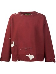 Levi's Vintage Clothing Distressed Sweatshirt Red