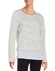 Marc New York Textured Mock Layer Top White