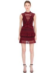 Self Portrait Teardrop Guipure Dress W Lace Panels