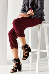 Urban Outfitters Lace Up Heel Black