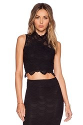 Nightcap Victorian Lace Crop Top Black