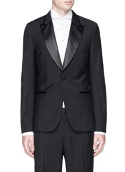 Paul Smith 'Soho' Satin Lapel Wool Mohair Tuxedo Blazer Black