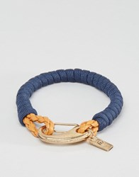 Icon Brand Rope Clasp Bracelet In Navy Navy