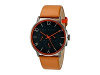 Ted Baker Classic Collection Custom Multifunction Sub Eye W Contrast Detail Date Leather Strap Watch Black Watches