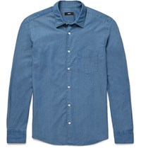 Hugo Boss Reid Slim Fit Cotton Shirt Blue