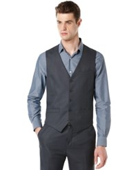 Perry Ellis Big And Tall Vest Navy