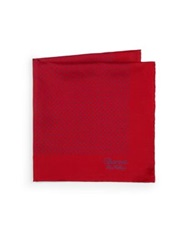 Charvet Silk Pocket Square Red