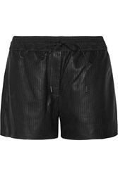 Alexander Wang Perforated Leather Shorts Black