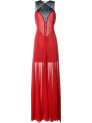 Jay Ahr Sleeveless Gown Dress Red