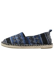 Evenandodd Espadrilles Navy Black White Dark Blue