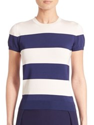Ralph Lauren Striped Short Sleeve Top Blue