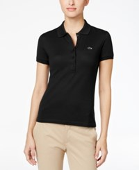 Lacoste Five Button Slim Fit Polo Black