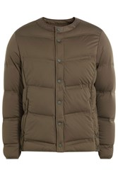 White Mountaineering Quilted Down Jacket Green