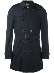 Burberry Mid Belted Trenchcoat Blue