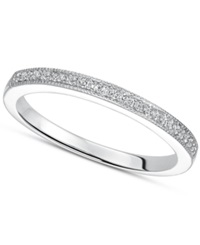 Macy's Sterling Silver Ring Diamond Accent Wedding Band