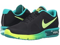Nike Air Max Sequent Black Volt Clear Jade Women's Running Shoes