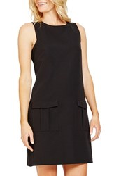 Donna Morgan Women's Sleeveless Crepe Shift Dress Black