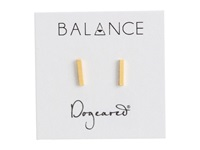 Dogeared Balance Flat Bar Stud Earrings Gold Earring