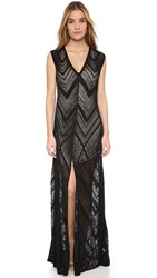 L'agence Tatiana Dress With Slit Black