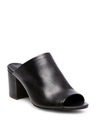 Steve Madden Infinity Leather Mules Black