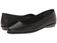 Aerosoles Between Us Black Leather Women's Flat Shoes