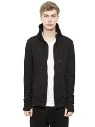 Alexandre Plokhov Hooded Zip Up Bonded Jersey Sweatshirt