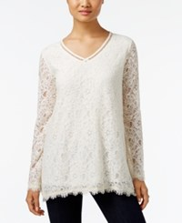 Styleandco. Style Co. Lace Bell Sleeve Top Only At Macy's Warm Ivory