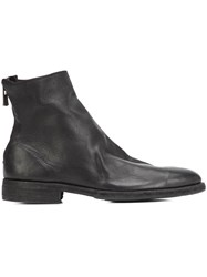 Guidi Rear Zipped Ankle Boots Black