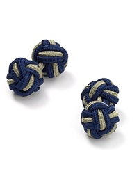 The Men's Store At Bloomingdale's Round Knot Cufflinks Navy Olive
