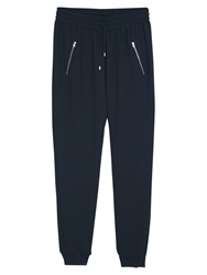 Mango Cotton Baggy Trousers Black