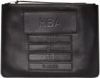 Hood By Air Black Leather Moma Zip Pouch
