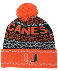 Top Of The World Miami Hurricanes Sprinkle Knit Hat Darkgreen Orange