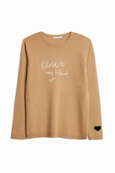Bella Freud Women S Close To My Heart' Jumper Boutique1 Beige