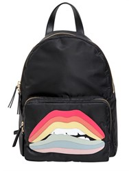 Red Valentino Rainbow Lips Patch Backpack