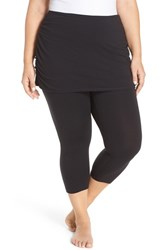 Zella Plus Size Women's 'Layer Me Up' Skirted Crop Leggings