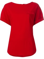 Osman Chest Pocket T Shirt Red