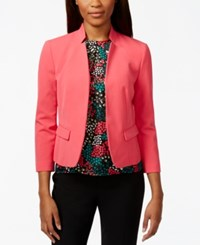 Nine West Bi Stretch Stand Up Collar Jacket Pink