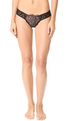 Hanky Panky After Midnight Wink Low Rise Diamond Thong Black