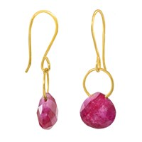 Juvi Boho Tiny Dancer Earrings With Ruby Red