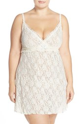Plus Size Women's Hanky Panky 'Rosalyn' Sheer Chemise Ivory Baby Blue