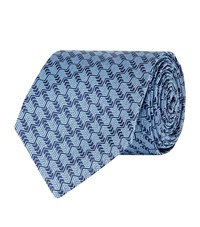 Turnbull And Asser Squiggle Tie Unisex Blue
