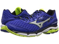 Mizuno Wave Inspire 12 Surf The Web Silver Safety Yellow Men's Running Shoes Blue