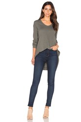 Wilt Mixed Panel Tunic Top Gray