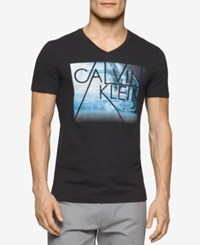 Calvin Klein Men's Big And Tall Graphic Print T Shirt Black