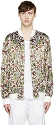 3.1 Phillip Lim White And Green Reversible Bomber Jacket