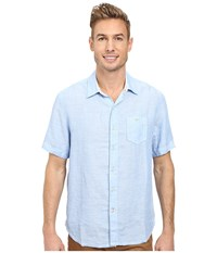 Tommy Bahama Party Breezer S S Clear Sky Blue Men's Short Sleeve Button Up