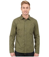 Black Diamond Long Sleeve Chambray Modernist Shirt Burnt Olive Men's Clothing